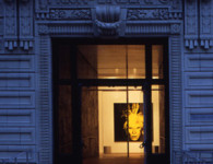 The Andy Warhol Museum, front facade, 1994, photo by Paul Rocheleau, Banner 72 dpi