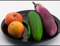 vegetables on a plate